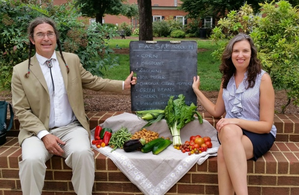 Tom, from Green Thumb Growers, and Heather, FACSAP Secretary